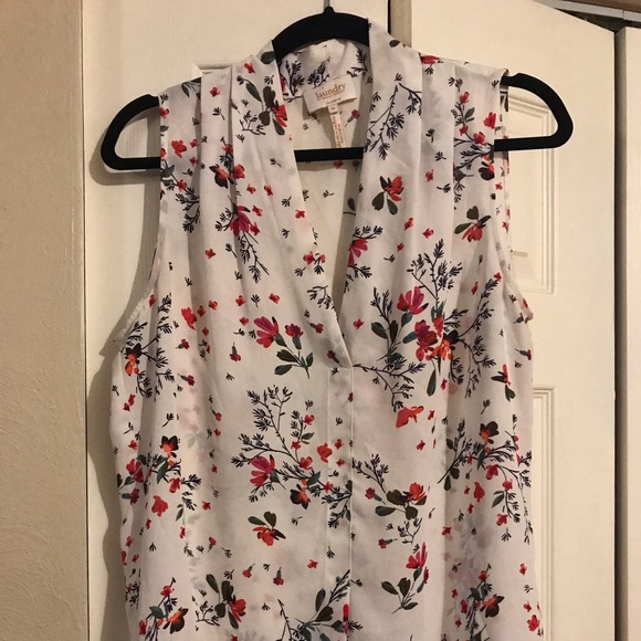 Laundry By Shelli Segal Tops - White Floral tank top